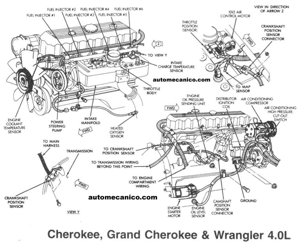 2004 Jeep Grand Cherokee Inline 6 Engine Diagram, 2004