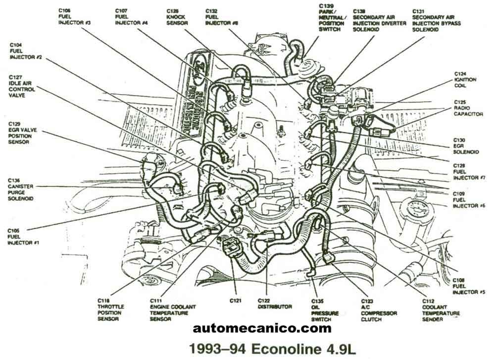 4 9 ford engine firing order diagram