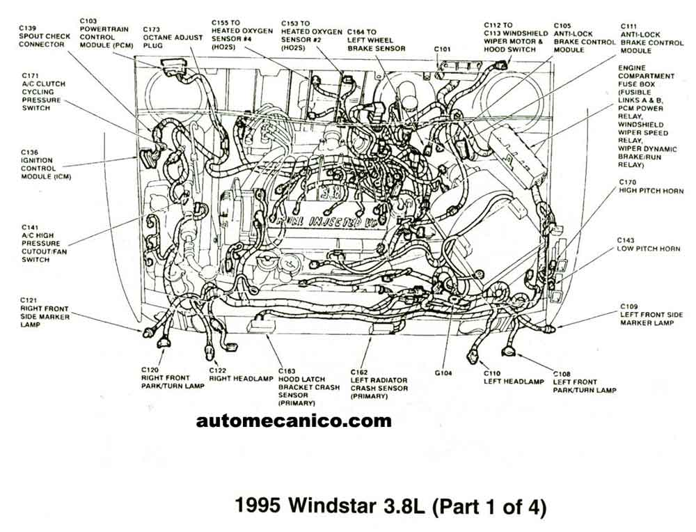 Engine Diagrams 1995 Mercury Villager 1998 Mercury Grand