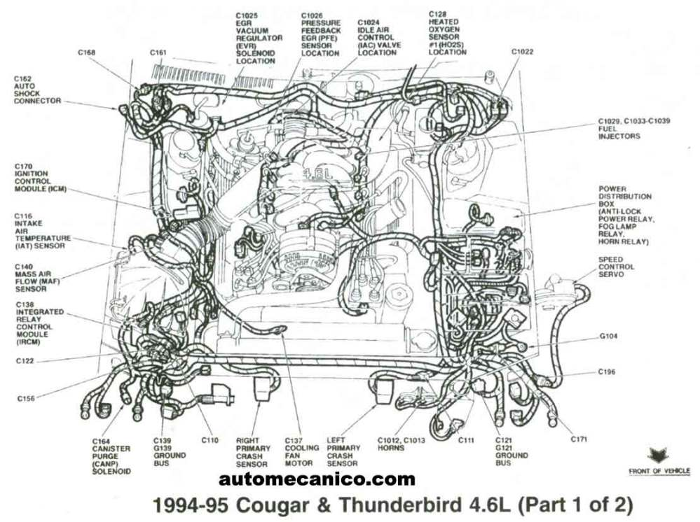 medium resolution of 1995 ford thunderbird 4 6 v8 engine diagram engine car parts and 4 6l v8 engine