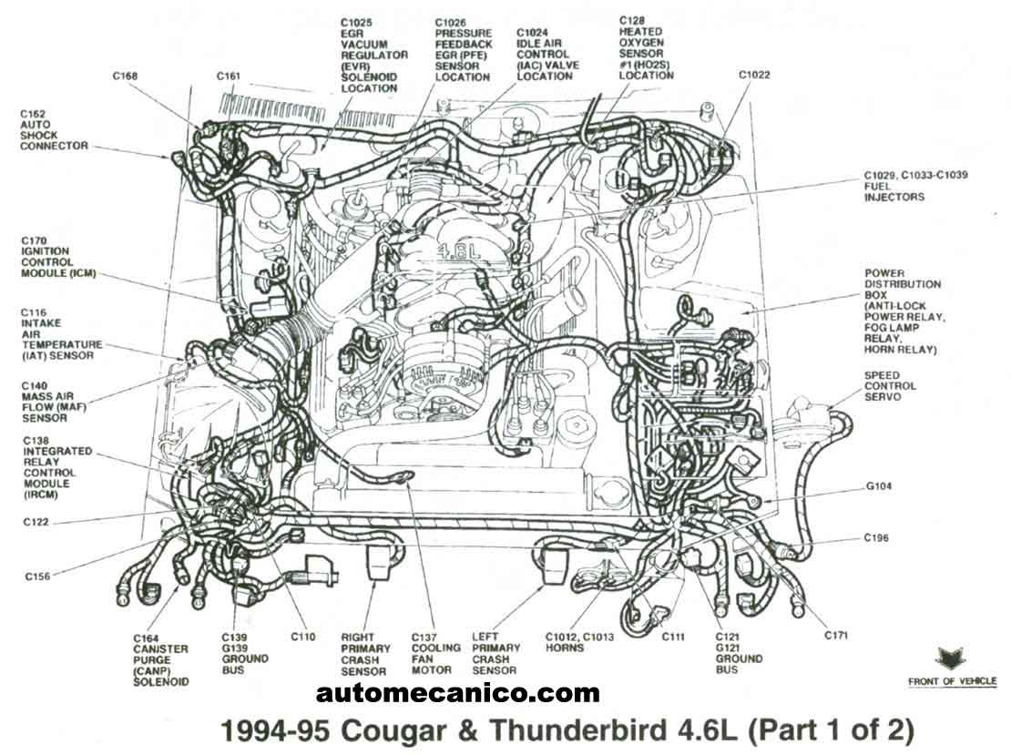 hight resolution of 1995 ford thunderbird 4 6 v8 engine diagram engine car parts and 4 6l v8 engine