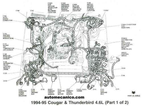 small resolution of 1995 ford thunderbird 4 6 v8 engine diagram engine car parts and 4 6l v8 engine