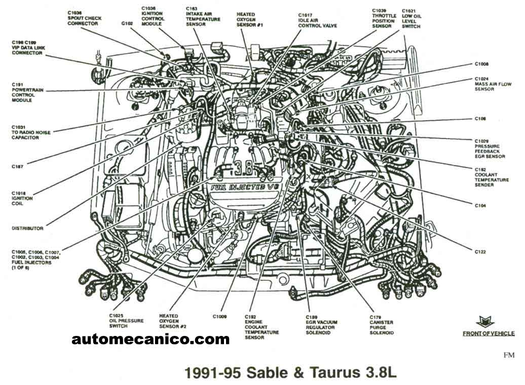 camaro 3800 v6 engine diagram
