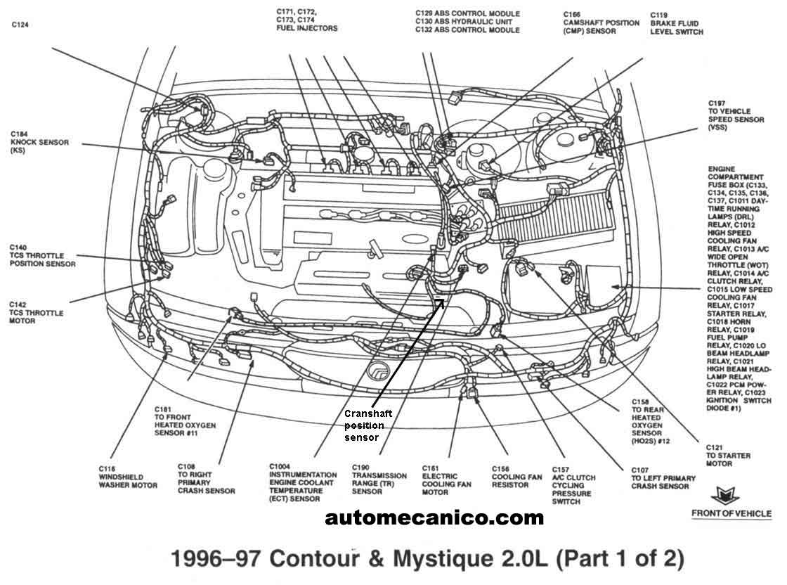 99 ford contour engine diagram wiring wall lights fuse box get free image