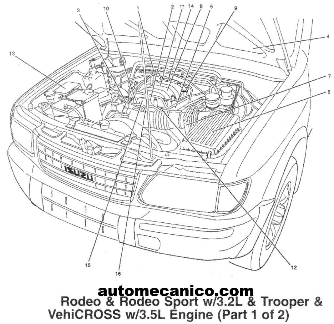 [DIAGRAM] Isuzu Rodeo Sport Engine Diagram FULL Version HD