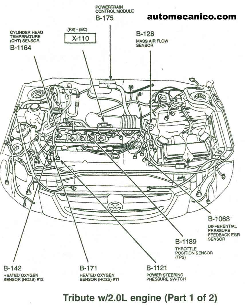 2000 Mazda Millenia S Engine Diagram, 2000, Free Engine