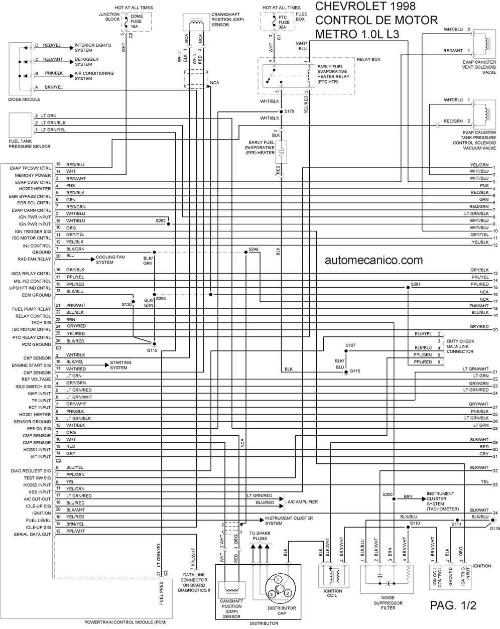Diagrama Electrico Chevy, Diagrama, Free Engine Image For