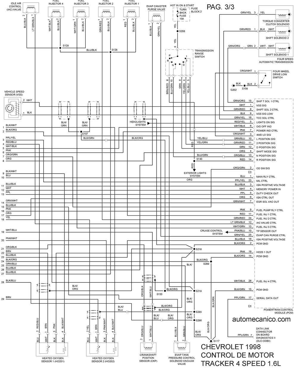 Diagrama Electrico Chevy 2002