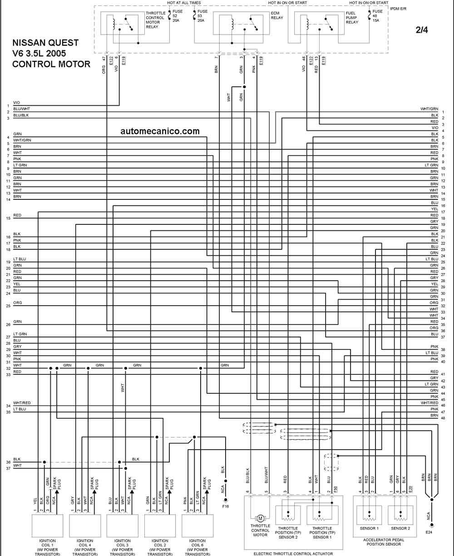 diagrama de cableado nissan 2.4