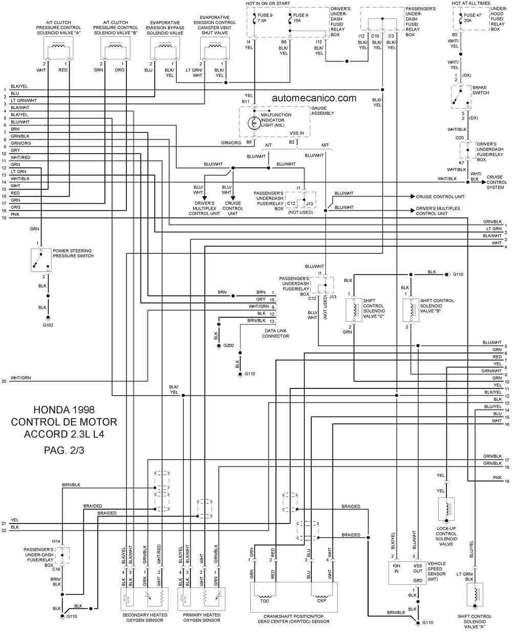 [DIAGRAM] Wiring Diagram De Taller Honda Accord FULL