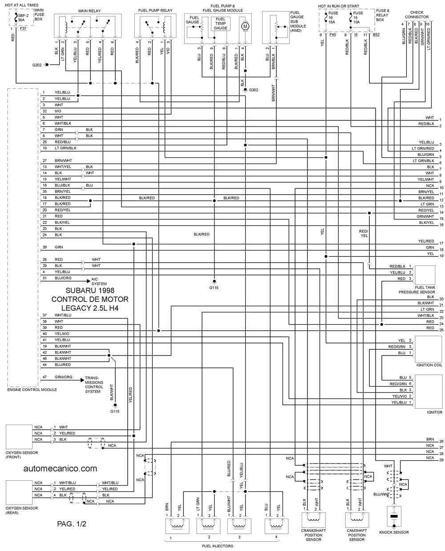 [DIAGRAM] Wiring Diagram Subaru Legacy 1998 En Espa Ol