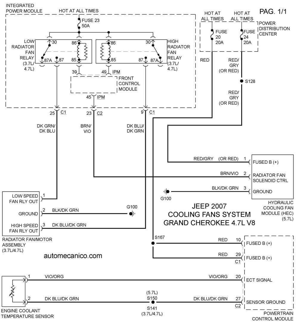 2010 Jeep Commander Wiring Diagram Jeep Cooling Fans System Diagramas Ventiladores