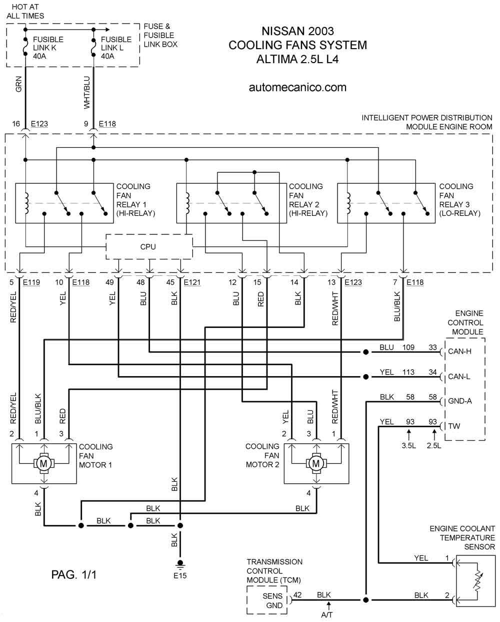 Diagramas electricos de nissan