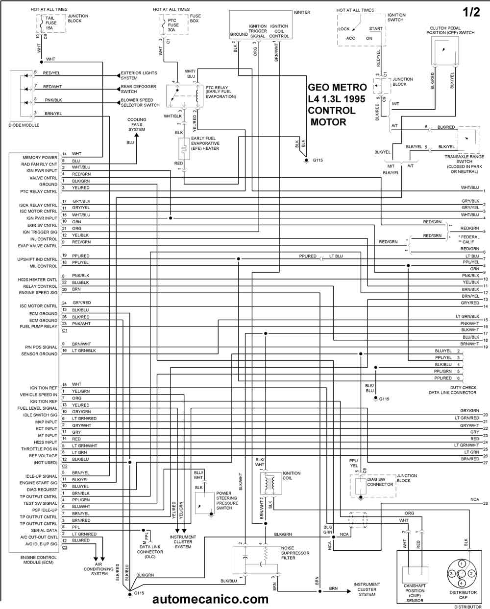Geo Tracker Engine 1 6l. Diagram. Wiring Diagram Images