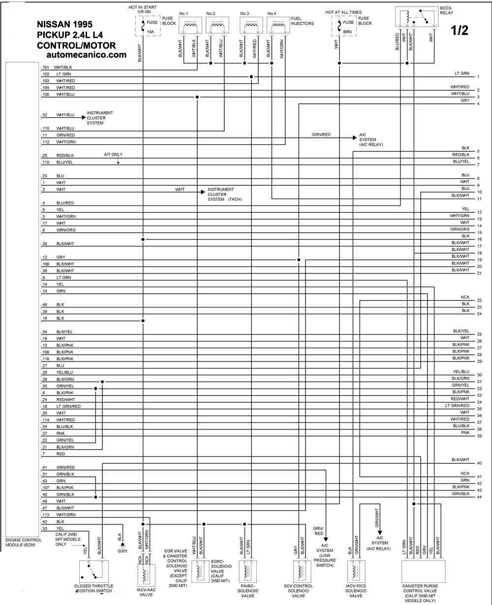 1995 Nissan Pick Up Wiring Diagram Nissan 1995 Diagramas Control Del Motor Graphics