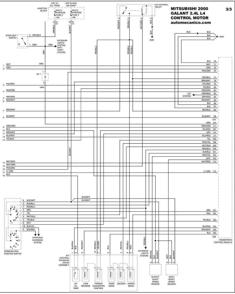 Mitsubishi Galant 2000 Diagrama Electrico Automotriz