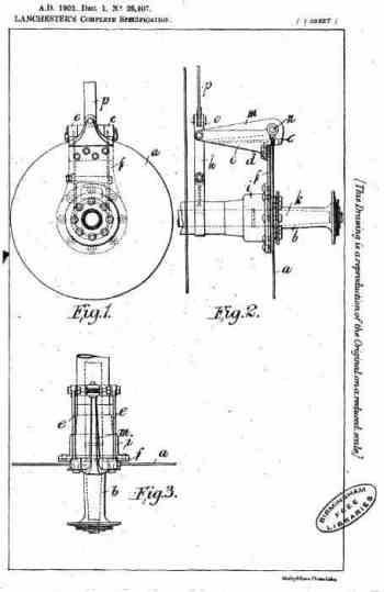 Sistema de freio a disco da Lanchester (hemmings.com)