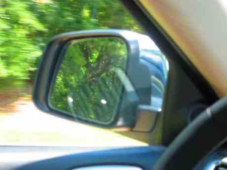 Reflexo no retrovisor (1)