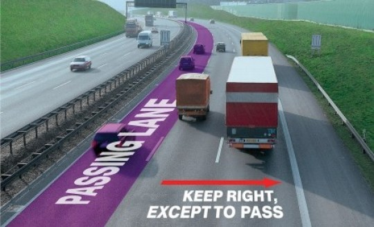 Autobahn-Passing-Lane