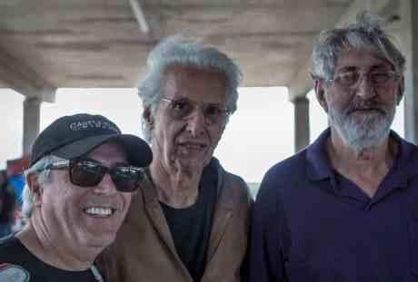 Lameirão, ladeado por Wagner Gonzalez e Antonio Ferreirinha (Foto Irineu Desgualdo)