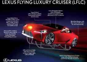 Trenó feito a partir de do carro conceito Lexus LFLC