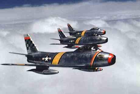 Col_Ben_O._Davis_leads_F-86_flight_(51st_FIW,_Korea)