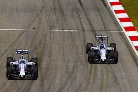 Massa não conseguiu segurar Bottas (foto Williams)