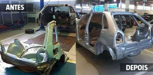 """Algumas oficinas fazem da remontagem de carros """"frankenstein"""" uma arte (fonte:opopular.vrum.com.br)"""