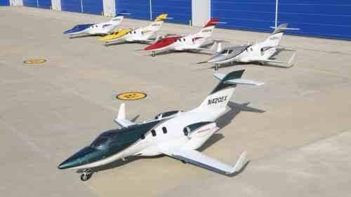 HondaJet_Fleet_with_First_Production_Aircraft