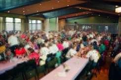 Foto parcial do salão onde foi realizado o jantar de confraternização