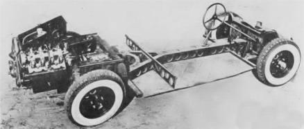 Chassi do T87 com motor V-8