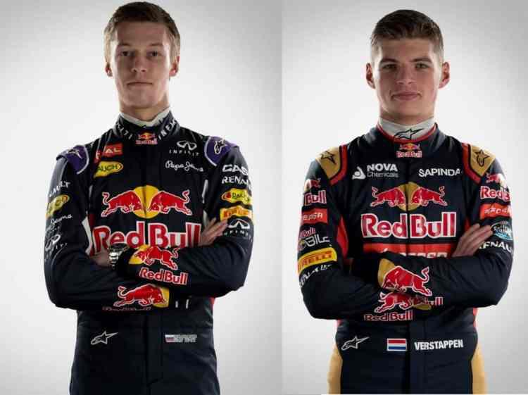 Kvyat e Verstappen pagam preço alto pelo apoio da Red Bull (Foto Red Bull/Getty Images)