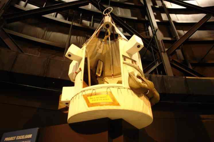 A cápsula Excelsior, de onde saltou Kittinger