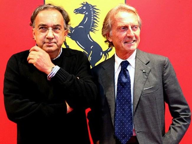 Marchionne e Montezemolo em tempos mais felizes (Foto Ferrari)