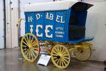Carroça de gelo, comum antes dos refrigeradores elétricos