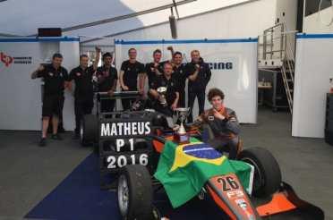 Leist é o 13º brasileiro a vencer o Campeonato Inglês de F3 (Foto BRDC)