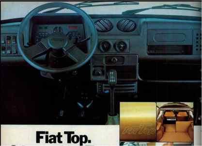 Propaganda do Fiat Top, ressaltando o painel (Site Armazém Automotivo)