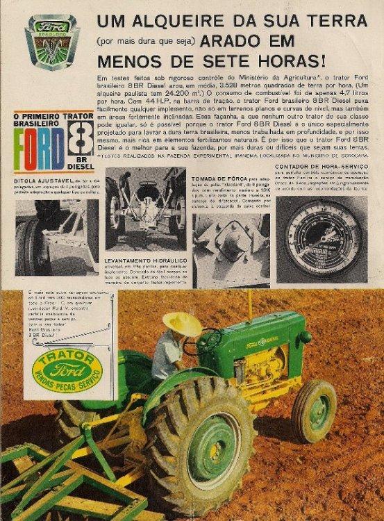 Anúncio do Ford 8BR brasileiro; agradecimentos a Lucas Nori Micheletti (http://tratoresantigos.blogspot.com.br)