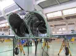 Traseira do F-5 sem motores