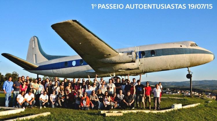 """O """"avião do AE"""" em um dia muito especial"""