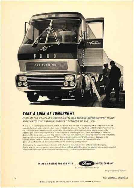 O caminhão-conceito Ford com turboeixo de 600 hp (carstyling.ru)