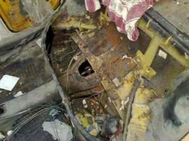 Quase todo o interior do carro estava faltando, foi uma temeridade ter abraçado este projeto de restauração