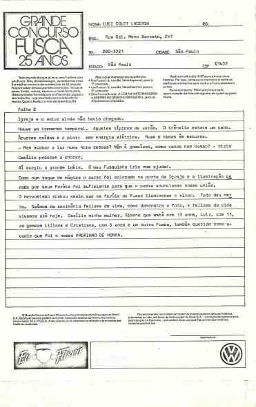 Fls. 2 do formulário; não está assinada porque esta é minha cópia