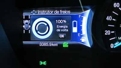 Porcentagem de energia recuperada após uma frenagem, medido a partir da última aceleração desde a imobilidade.