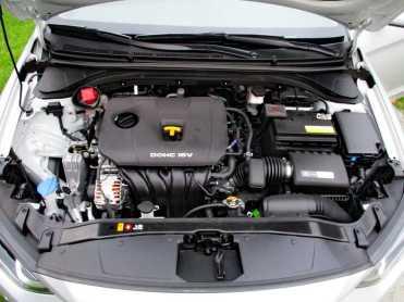 Cofre bem arrumado; tampa vermelha é do reservatório de gasolina do sistema auxiliar de partida a frio tendo álcool no tanque