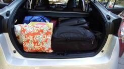 Cuidado com a bagagem para não danificar a cobertura de enrolar