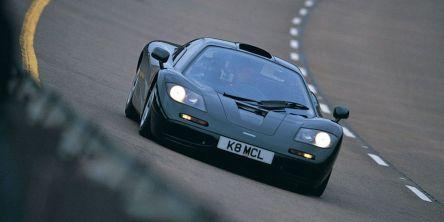 O teste de velocidade máxima no XP5 com Andy Wallace ao volante (McLaren)
