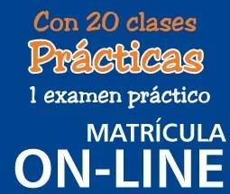 Matrícula 20 clases