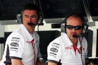 Click to enlarge [Andy Stevenson (GBR) Force India F1 Team Manager and Mike Gascoyne (GBR) Force India F1 Chief Technical Officer, back in 2008]