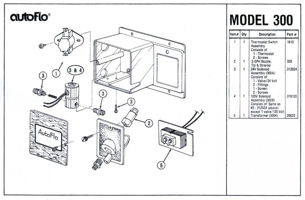 Autoflo 300A Humidifier Parts
